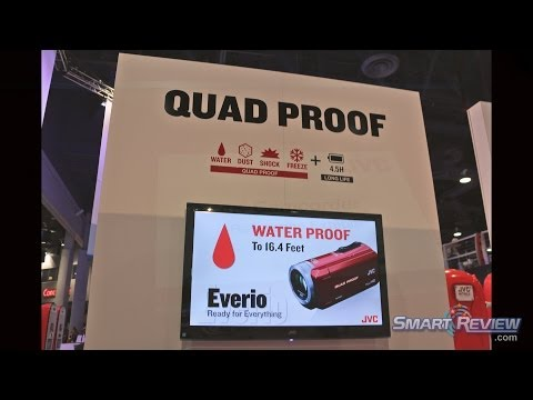 CES 2014 | JVC Camcorder Lineup 2014 | Waterproof | Everio Quad-Proof  GZ-R70 and GZ-R10 HD  | 4K |