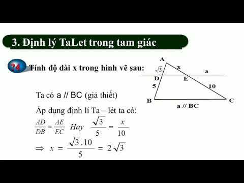 Bài 1: Định lí Ta-lét trong tam giác
