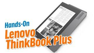 Das Lenovo ThinkBook Plus Hat Zwei Displays Im Deckel- Deutsch / German