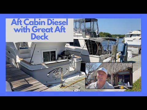 Carver Aft Cockpit Motor Yacht video