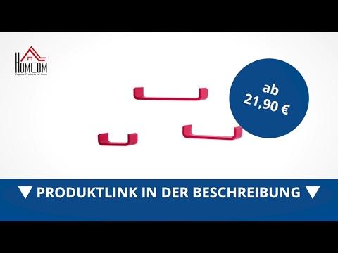 Homcom Wandregal 3 tlg. CD Regale Hängeregal Dekoregal rot  - direkt kaufen!