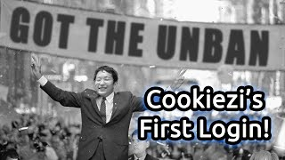 Cookiezi logging in for the first time in 2 years