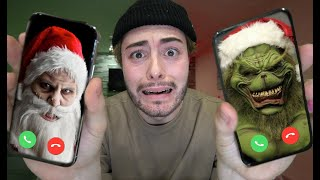CALLING GRINCH AND SANTA AT THE SAME TIME ON FACETIME AT 3 AM!! (THEY CAME OVER)