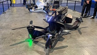 HOVERSURF Rideable Hoverbike at CES (Human Drone Bike)