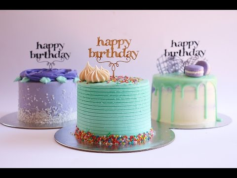 Video Mini Purple and Turquoise Buttercream Cakes- Rosie's Dessert Spot
