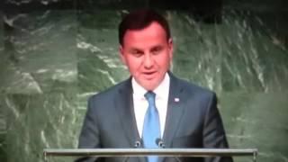 Przemówienie Prezydenta RP Andrzeja Dudy w ONZ (27 wrzesnia 2015, New York, USA)