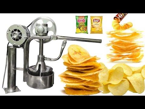 Maquina Rebanadora de Papas Lays ( Eléctrica) Rebanadora de Plátano, Snack Chips - Chifles /Perú