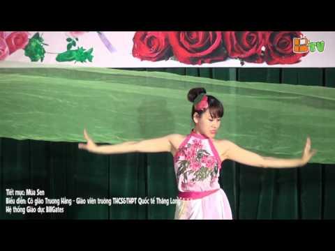 Chào mừng 8.3: Tiết mục biểu diễn nghệ thuật Múa Sen - Trường THCS&THPT quốc tế Thăng Long - BGS