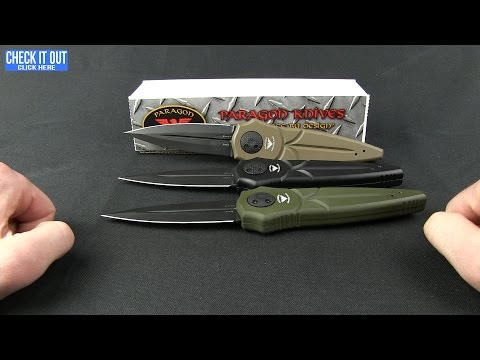 "Asheville Steel Paragon Warlock Cross Knife OD Green Aluminum (4"" Black)"