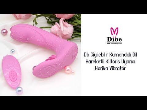 Db Giyilebilir Kumandalı Dil Hareketli Klitoris Uyarıcı Harika Vibratör