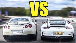 Porsche 911 GT3 RS vs Nissan GTR R35 - LAUNCH CONTROL BATTLE!