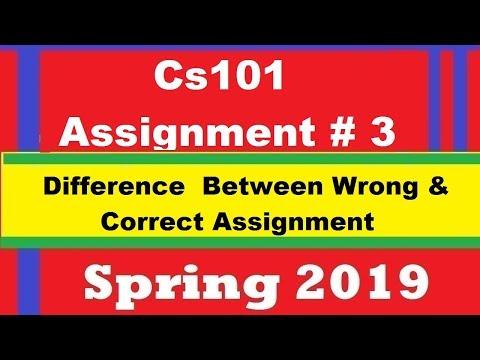 Cs101 Assignment 3 Spring 2019