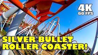 Riding Silver Bullet Roller Coaster Multi Angle 4K Onride POV Knotts Berry Farm California