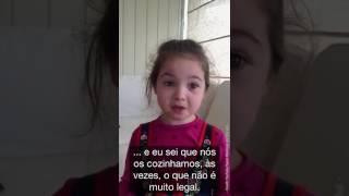 Criança vegana explica seus motivos