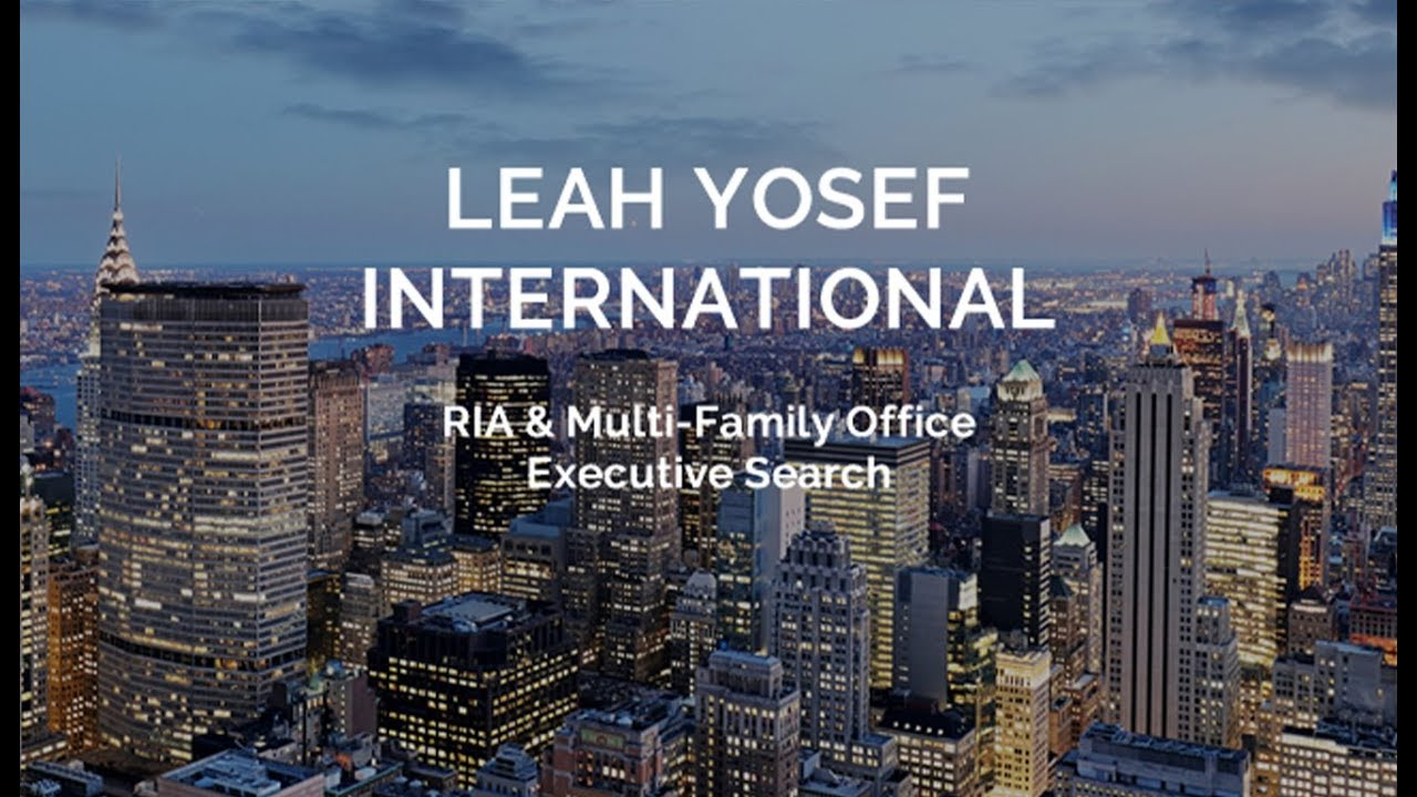 RIA and Multi-Family Office Executive Search