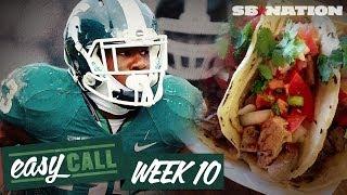 Week 10 College Football Picks, Miami vs Florida St, Michigan vs Michigan St., and more (Easy Call) thumbnail