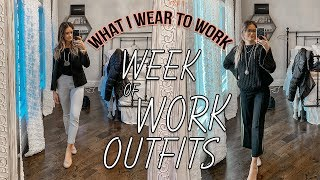WINTER WORK OUTFITS OF THE WEEK