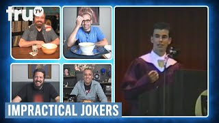 Impractical Jokers: Dinner Party - See The Guys At Their High School Graduation (Clip) | TruTV