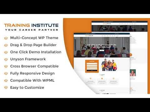 Education & Training Institute WordPress Theme   Themeforest ...