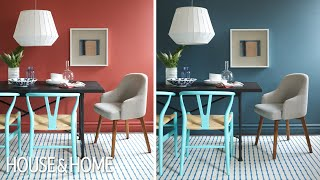 Interior Design – One Dining Room, Two Different Wall Colors