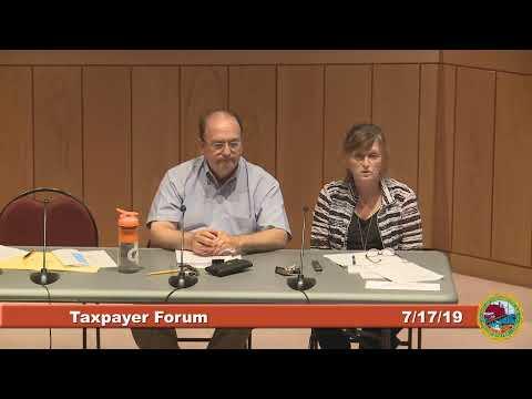 Taxpayer Forum 7.17.19