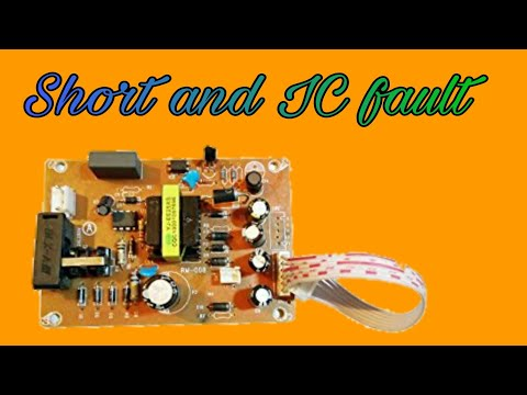 Repair smps power supply in हिन्दी . short problem . ic ...