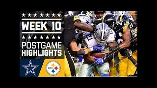 #1 Cowboys vs. Steelers | NFL Week 10 Game Highlights