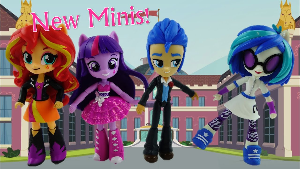 New My Little Pony Equestria Girls Minis Dolls Series 2 Sunset Shimmer, Flash Sentry, Vinyl Scratch
