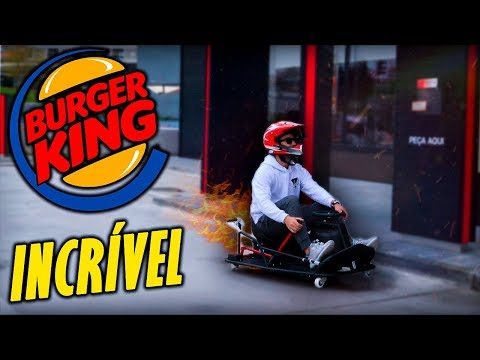 KART DE DRIFT NO DRIVE THRU DO BURGER KING ! ( INCRÍVEL )
