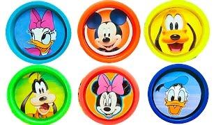Plasticine Play doh Mickey Mause Disney Surprise | Plasticina Play doh Mickey y sus amigos
