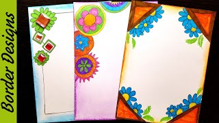 Doodle | Border Designs On Paper | Border Designs | Project Work Designs | Borders For Projects