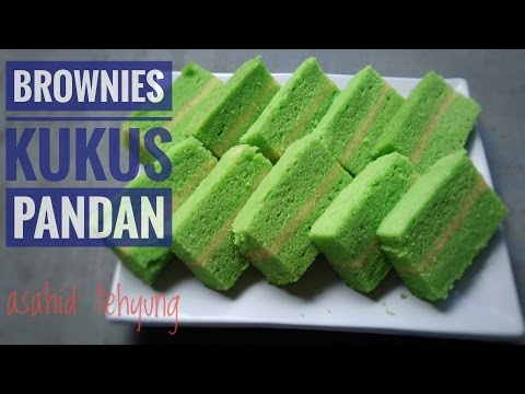 Video Resep Brownies Kukus Pandan