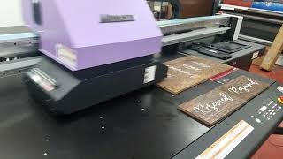 PDS Printing Direct To Substrate On Wooden Wedding Signs!