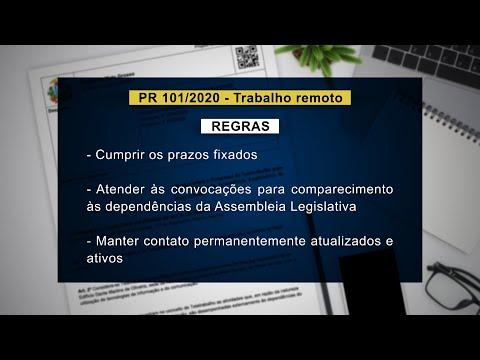 Leis Covid-19 | Projeto de Resolução nº 101/2020 prevê regulamentar teletrabalho na ALMT
