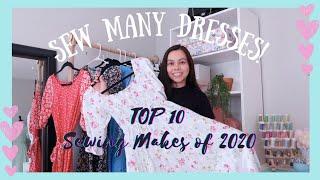 Sewing Makes of 2020 | My Top 10 Memade Wardrobe Dresses and Skirts Make | Sewing, Making, DIY