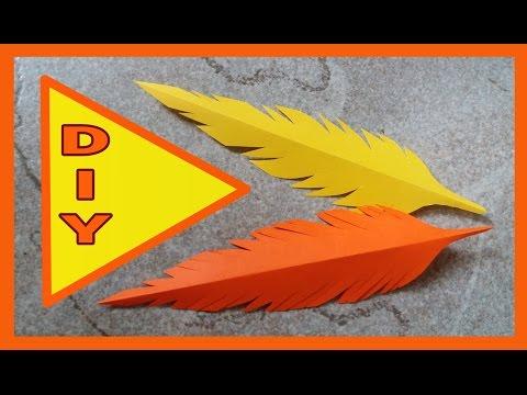 DIY  ● Federn aus Papier schneiden  * Julebuergerfee