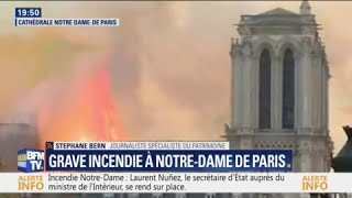 EN DIRECT - La cathédrale Notre-Dame de Paris est en feu
