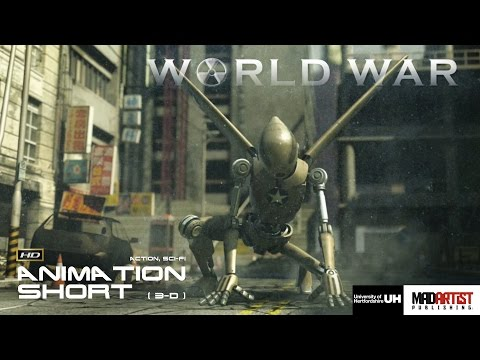 Sci-Fi CGI 3D Animated Short Film ** WORLD WAR ** USA Japan Action Film by Vincent Chai