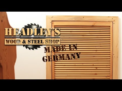 🛠 Lamellentür aus Palettenholz selber bauen mit Oberfräse und Kreissäge