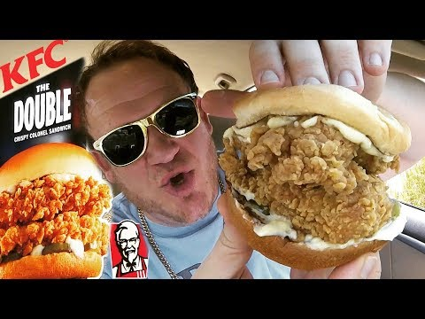 KFC New! ☆DOUBLE CRISPY COLONEL SANDWICH☆ Food Review!!!