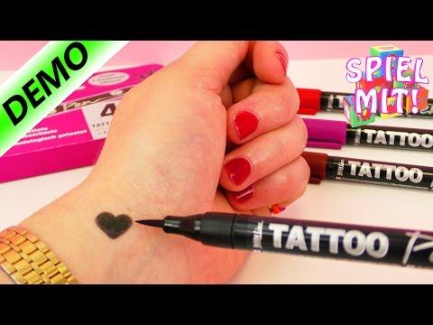 Nina tätowiert sich selbst   4 Tattoostifte im Test   Tattoo Demo