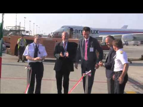 """Ecco """"Monte Rosa"""", il nuovo Boeing della flotta Cargolux"""