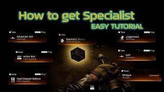 How to get Specialist in Modern Warfare Warzone COD Tutorial