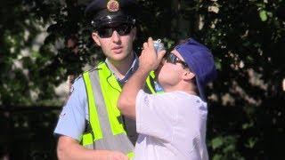 Shotgunning Beers In Front of Cops Prank!