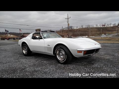 1972 Classic White Corvette Stingray For Sale Video