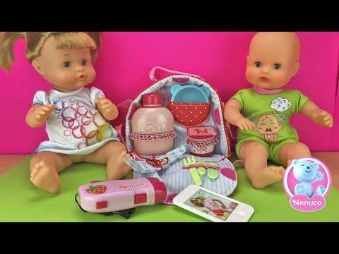 Aventuras de los bebes Nenuco con la bolsa de picnic.