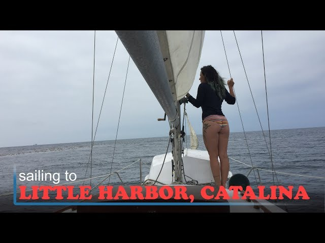 Sailing to Little Harbor on Catalina Island onboard SV Triteia