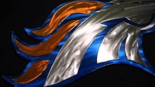 Denver Broncos metal art