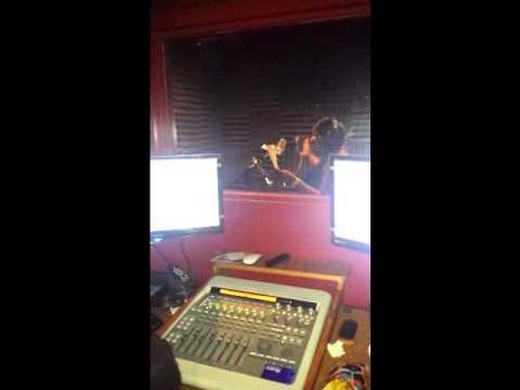 "Lala Berlin recording ""work hard"" live in the studio"