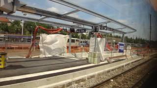preview picture of video 'Gare de Besançon Viotte - Rénovation du quai des voies D & E - TGV Rhin-Rhône - Mai 2010'